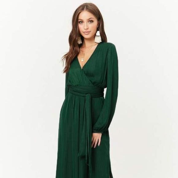 bfad4a59bb5 Belted Surplice Maxi Dress